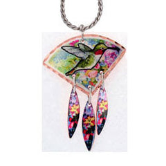 Hummingbird Colourful Multiple Necklace