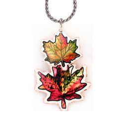 Maple Leaf Colourful Multiple Necklace