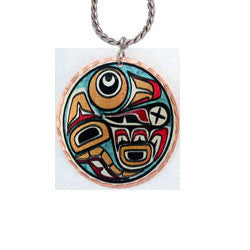 Native Raven Colourful NW Native Necklace