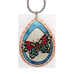Native Butterfly Colourful NW Native Necklace