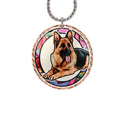 German Shepherd Dog Colourful Copper Necklace