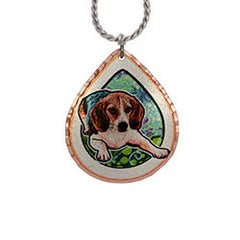 Beagle Dog Colourful Copper Necklace