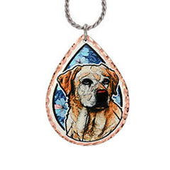 Labrador Retriever Dog Colourful Copper Necklace