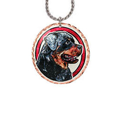 Rottweiller Dog Colourful Copper Necklace