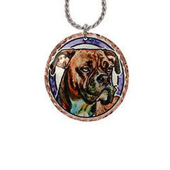 Boxer Dog Colourful Copper Necklace