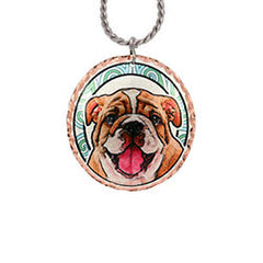 Bull Dog Colourful Copper Necklace