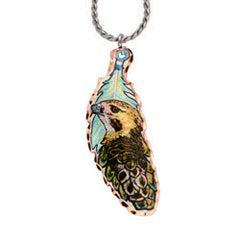 Bird Colourful Feather Necklace