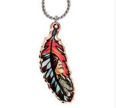 Native Colourful Feather Necklace