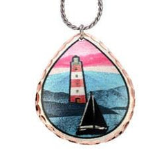 Lighthouse Marine Copper Necklace