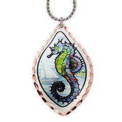 Colourful Seahorse Marine Copper Necklace