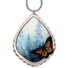 Butterfly Marine Copper Necklace