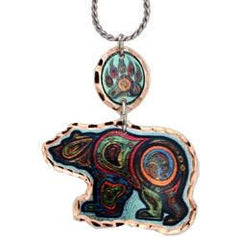 'Bear' Artist Collection Copper Multiple Necklace - Oscardo