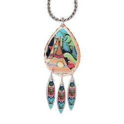 And Some Watched the Sunset Artist Collection Copper Necklace - Oscardo