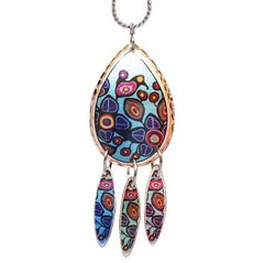 Norval Morrisseau Flowers and Birds Artist Collection Copper Multiple Necklace