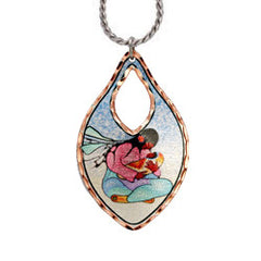 Cecil Youngfox Joyous Motherhood Artist Collection Copper Necklace