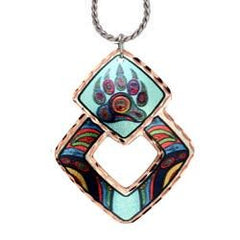 'Bear Paw' Artist Collection Copper Necklace - Oscardo