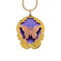 Butterfly Cut-Out Colourful Sparkle Necklace