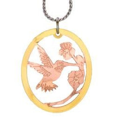 Hummingbird Cut-out Necklace