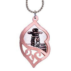Native Inukshuk Filigree Necklace