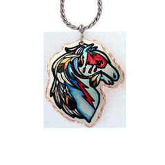 Horse Colourful Lynn Bean Necklace