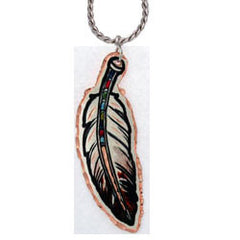 Feather Colourful Lynn Bean Necklace