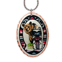 Bear and Totem Colourful Lynn Bean Necklace