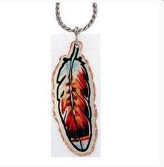 Native Feather Colourful Lynn Bean Necklace