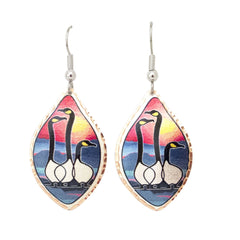 'Friends' Artist Collection Copper Earrings - Oscardo