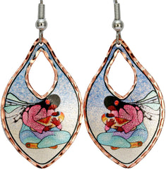 Cecil Youngfox Joyous Motherhood Artist Collection Copper Earrings