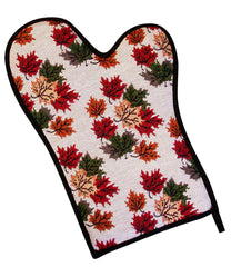 Ruth Lund Tapestry Leaves Oven Mitt