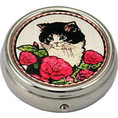Cat Colourful Pill Box