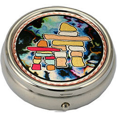 Native Inukshuk Colourful Pill Box