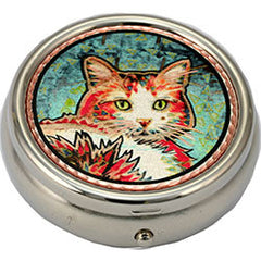 Cat Colourful Lynn Bean Pill Box