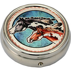 Horse Colourful Lynn Bean Pill Box