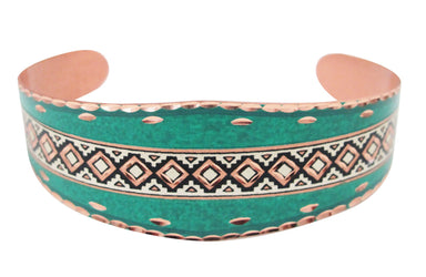 Pashmina Native Design Copper Bracelet - Oscardo