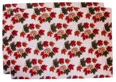 Ruth Lund Tapestry Leaves Placemat - Set of 2