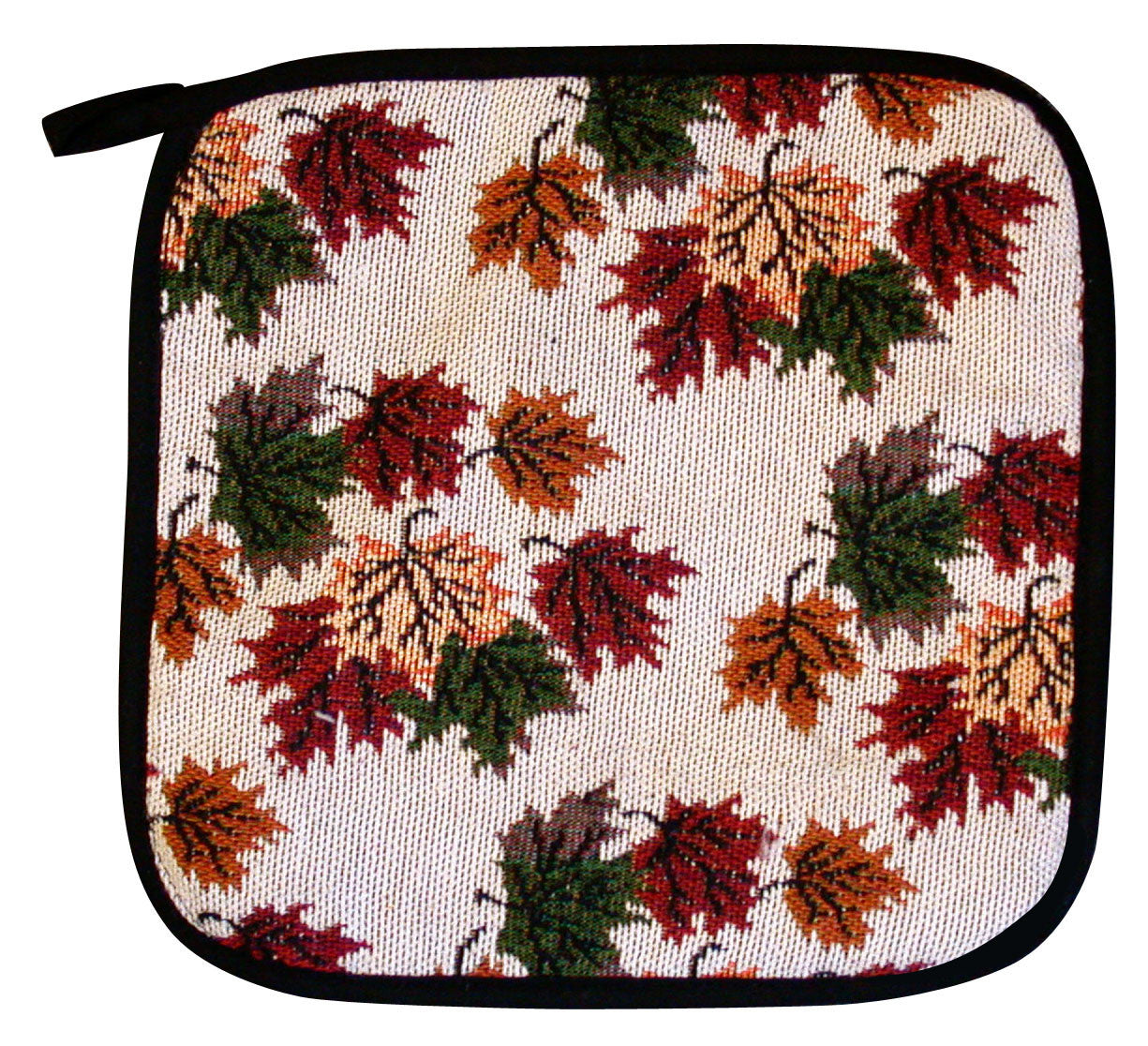 Ruth Lund Tapestry Leaves Square Pot Holder