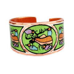 Norval Morrisseau Moose Harmony Artist Collection Copper Ring