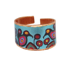 Norval Morrisseau Flowers and Birds Artist Collection Copper Ring