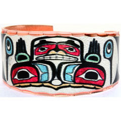 Native Bear Colourful NW Native Ring