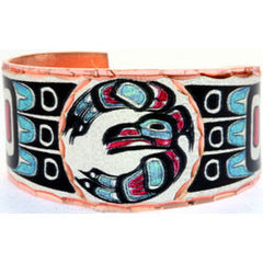 Native Raven Colourful NW Native Ring
