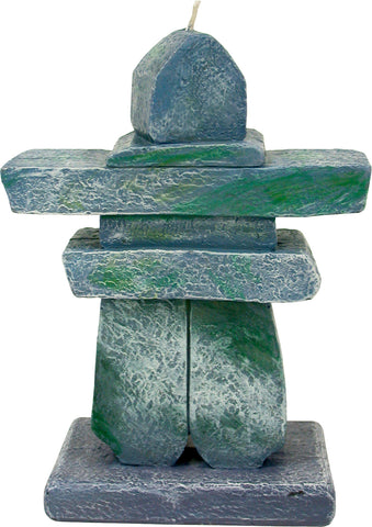 Rock Inukshuk Candle
