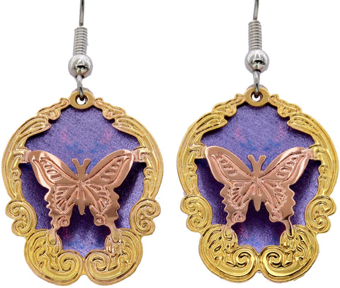 Butterfly Cut-Out Colourful Sparkle Earrings