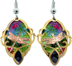 Dragonfly Cut-Out Colourful Sparkle Earrings