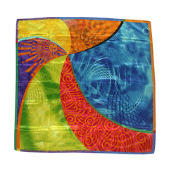 Silk Screen printed Silk Scarf
