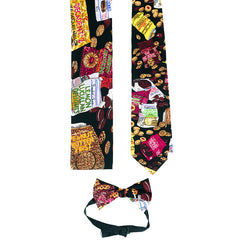 Printed Matching Tie, Scarf & Bow Tie