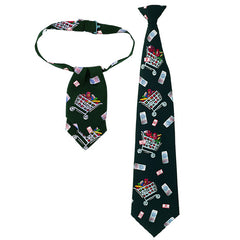 Printed Tie & Matching Ascot