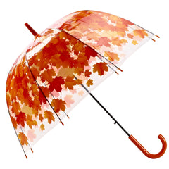 Bubble Maple Leaf Umbrella - Orange
