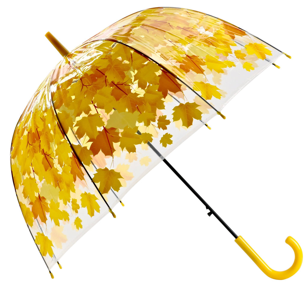 Bubble Maple Leaf Umbrella - Yellow