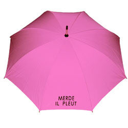 Merde Il Pleut Long Wood Frame Umbrella